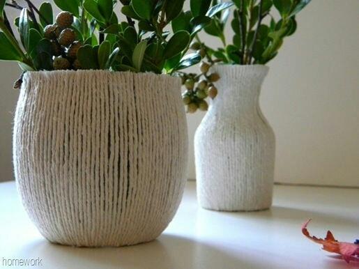 Уютные вазы (diy)