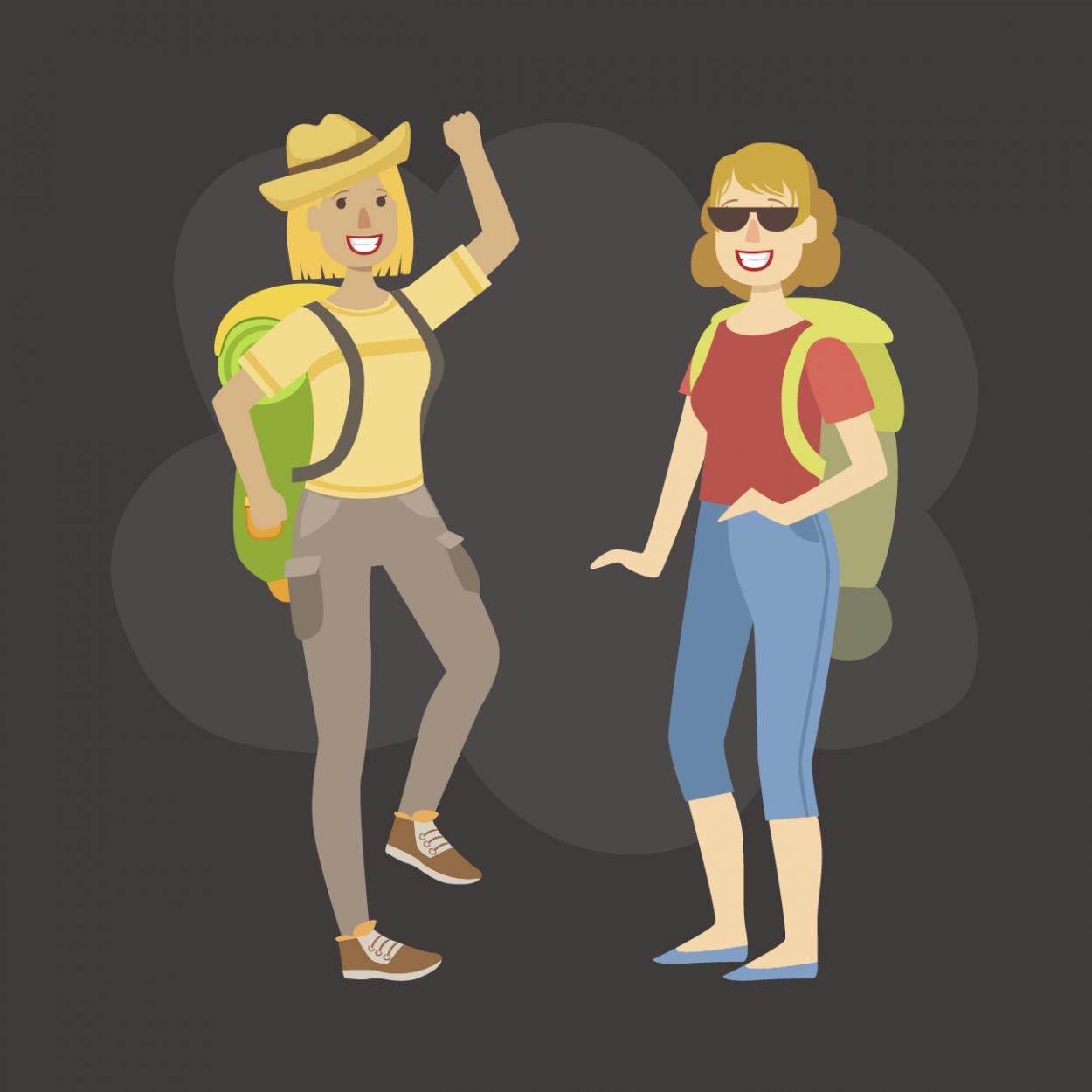 Анекдот про спор двух блондинок вовремя похода