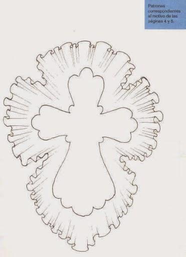 Очень красивый крест из бумаги