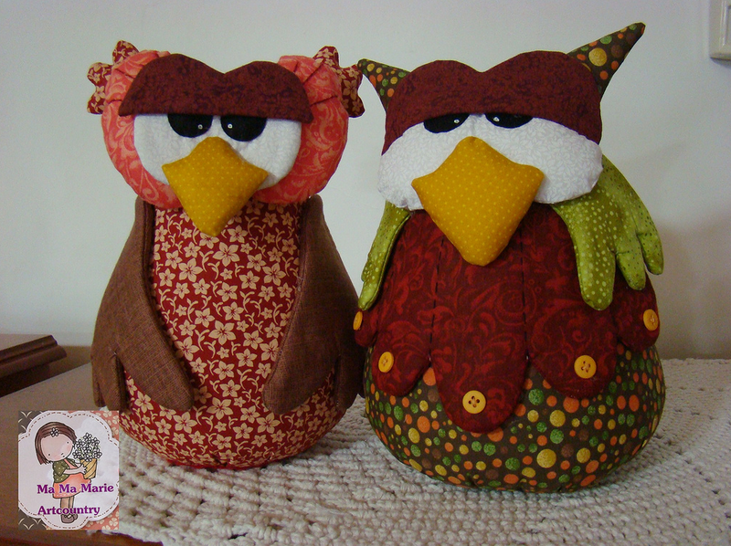 Лоскутные изделия (игрушки, сумочки...) Ma Ma Marie Artcountry