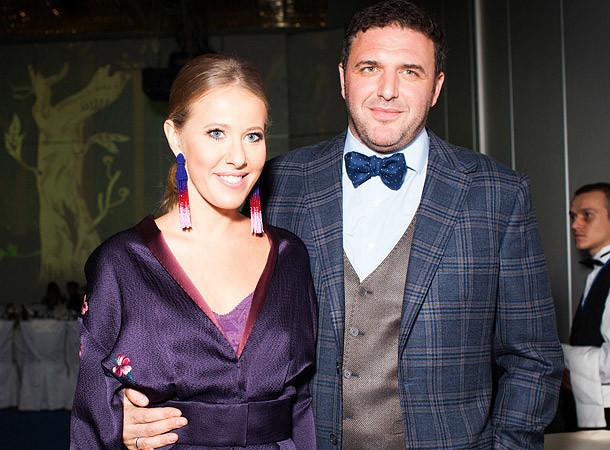 1. Ксения Собчак и Максим Виторган знаменитости, люди, отношения, телеведущие