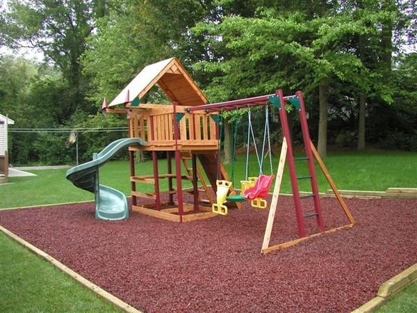 Фото детских площадок своими руками на даче