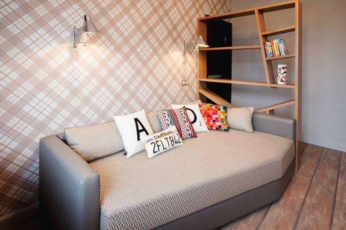 диван в детской для мальчика-подростка
