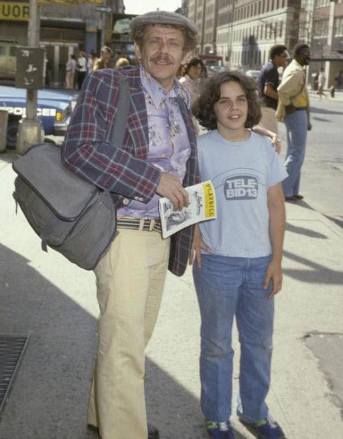13-летний Бен Стиллер, во время поездки в Нью-Йорк со своим отцом Джерри, 1978 дети, известность, история, фото