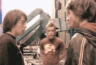 Звезда «Поттерианы» Дэниел Рэдклифф (Daniel Radcliffe) и его дублер Дэвид Холмс (David Holmes), слева.