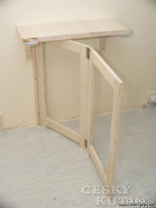 Откидной стол из дерева фото