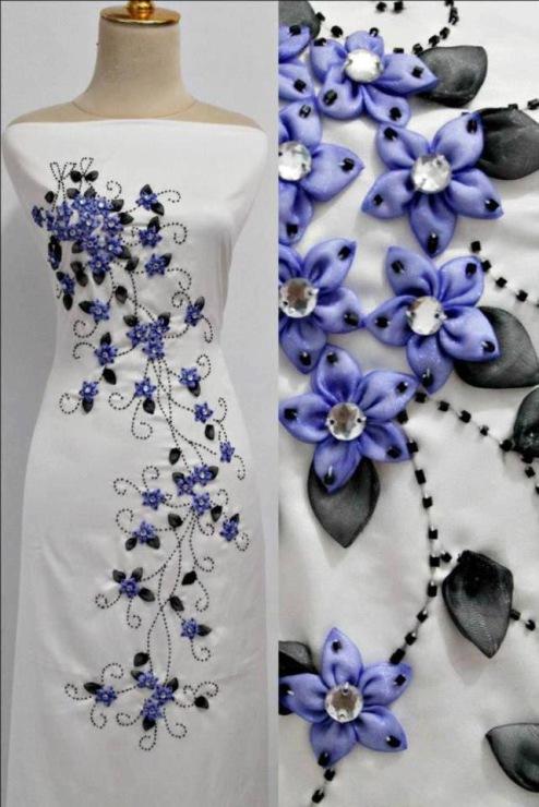 Великолепная красота вышивки лентами!