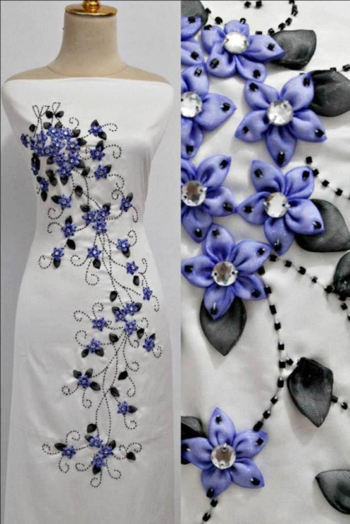 Декор одеждами лентами