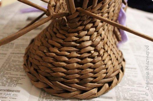 Мастер-класс Поделка изделие Плетение Как я делаю башмак Трубочки бумажные фото 11