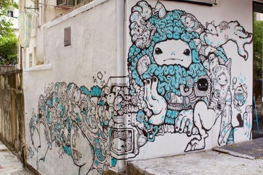 12. Гонконг, Китай граффити, стрит-арт, художники