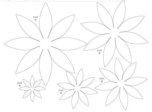 Шаблоны как сделать цветы из бумаги своими руками