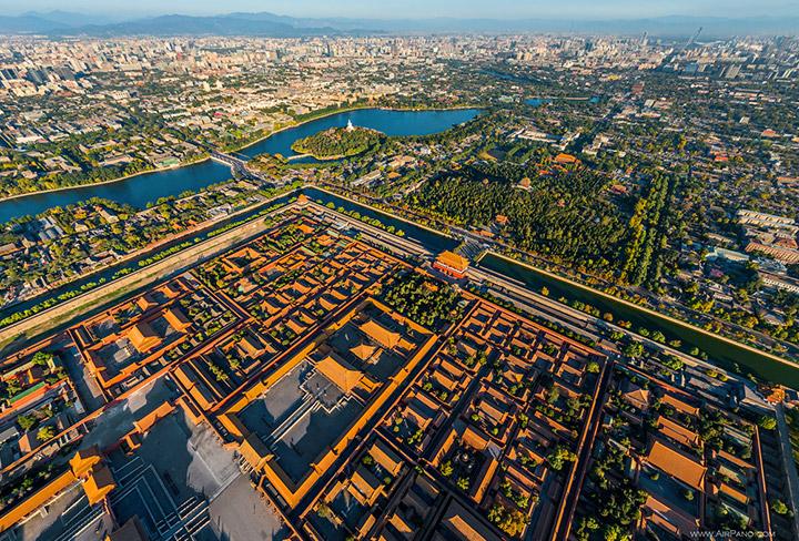 Панорама Запретного города и центра Пекина