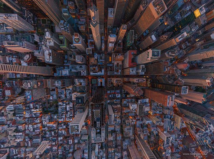 Центр Сан-Франциско в высоты птичьего полета