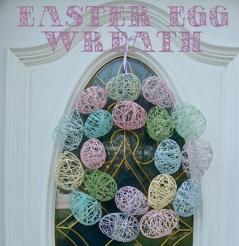 Декоративные яйца из ниток и ПВА.