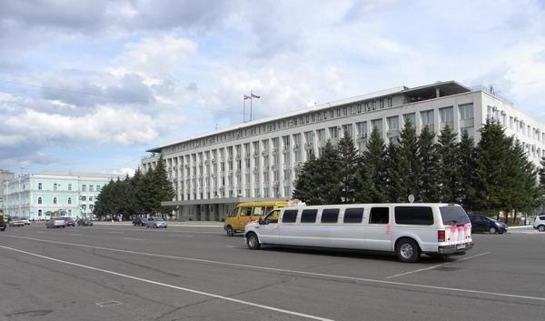 Улица в благовещенске, россия
