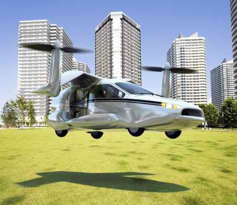 Первый в мире летающий гибридный автомобиль
