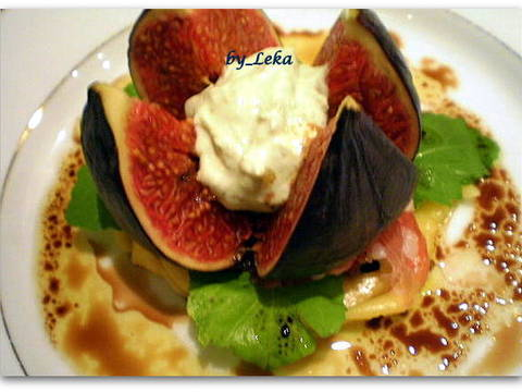 Закуска из инжира с васаби и ветчиной recipe step 3 photo