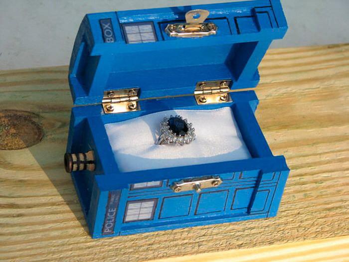Коробочка в форме Тардис из «Доктор Кто» диза, кольцо, креатив