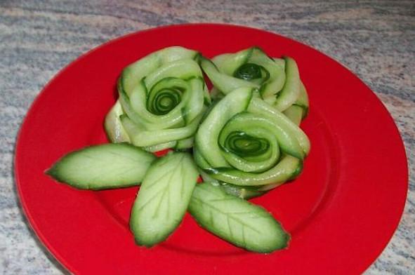 Украшения на салаты из овощей 160