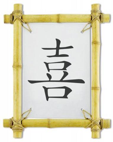 Иероглифы «счастье» и «деньги»