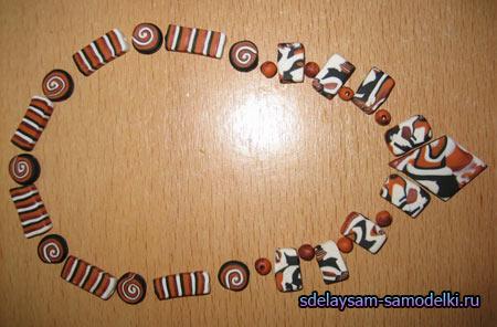 Африканские бусы из полимерной глины