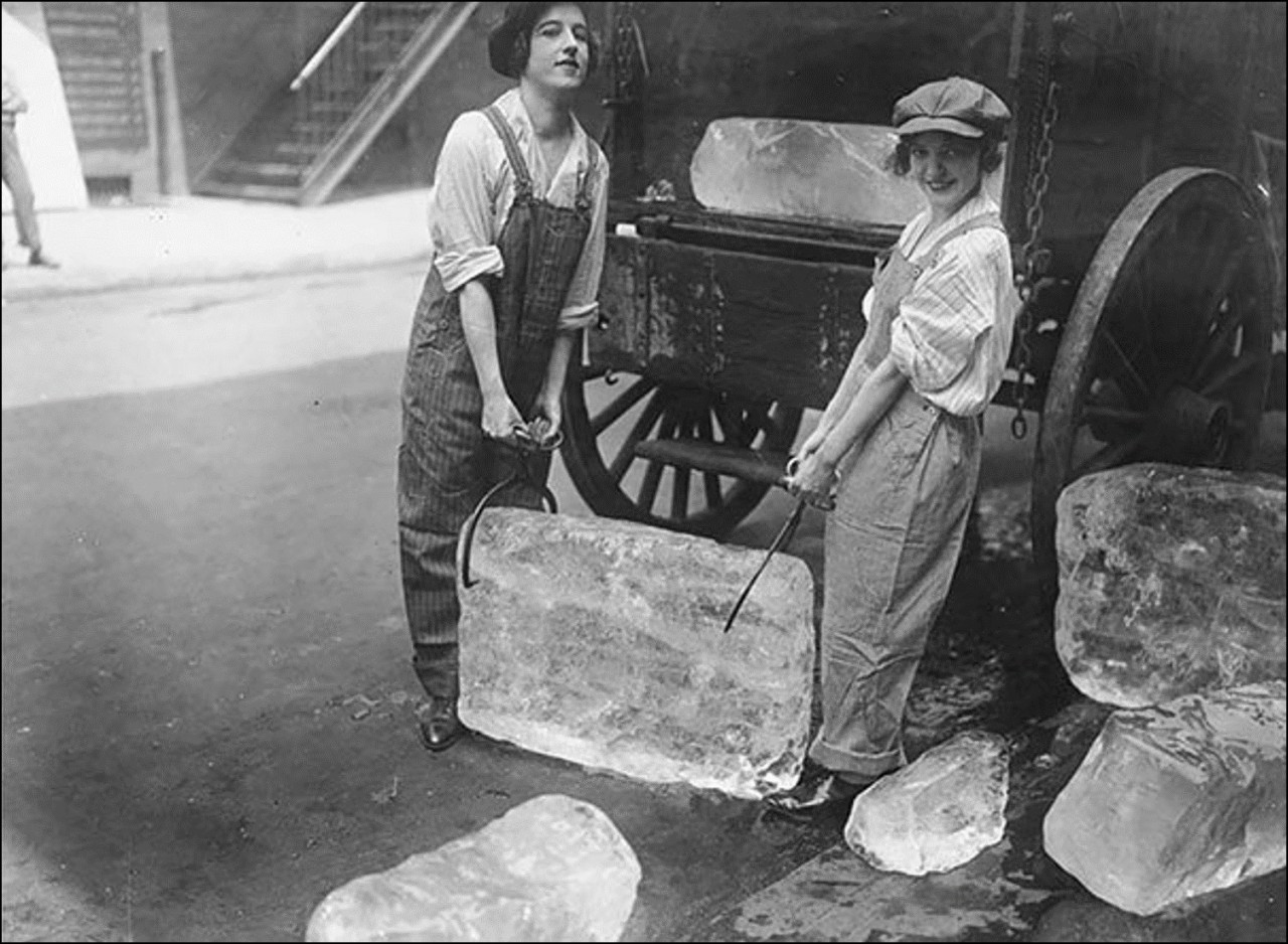Доставка льда, 1918 Историческая фотография, история, факты