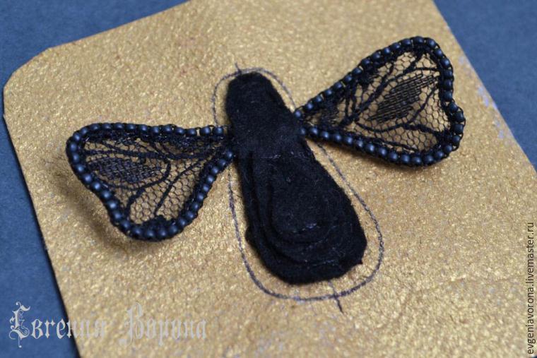 вышивка бисером, насекомые ручной работы