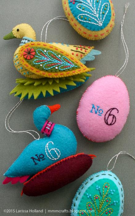 Райские птицы из фетра. Идеи (12) (438x700, 607Kb)