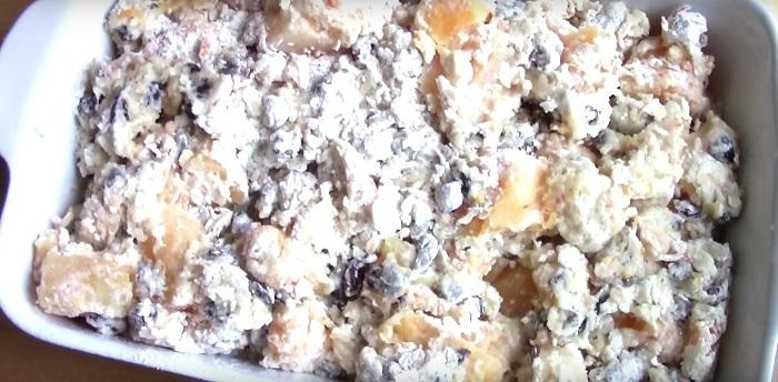 тыквенный пирог из песочного теста