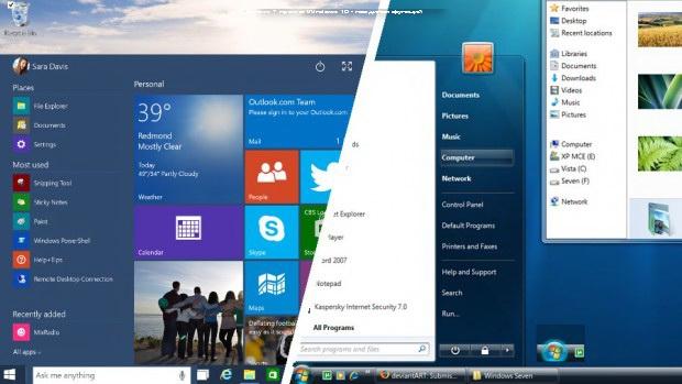 Windows 7 против Windows 10 - поединок функций