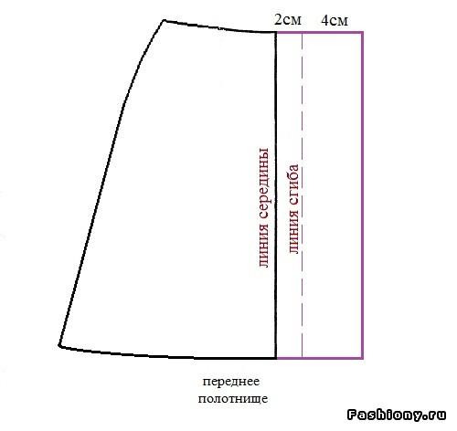 Как сшить юбку трапецию с завышенной талией 5