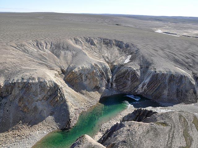 В Арктике найден кратер, убивший динозавров