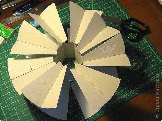 Мастер-класс Моделирование конструирование Чайное колесо Картон Клей Салфетки фото 8