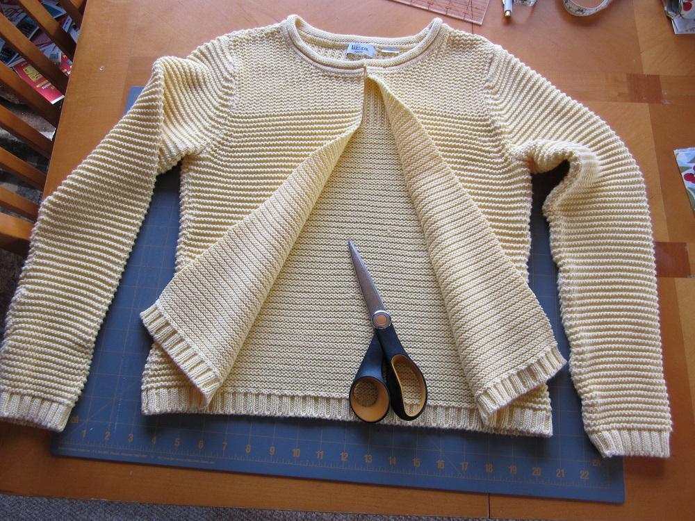 Как сшить связанный свитер фото