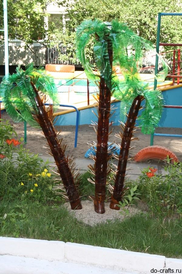 Пальмы из пластиковых бутылок своими руками фото