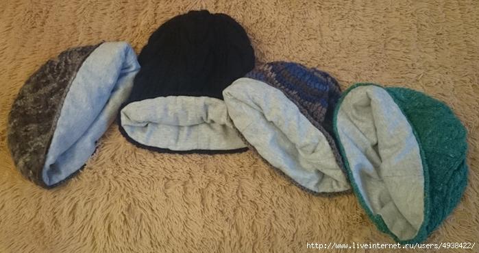 ШЬЕМ, ШЬЁМ, ШЬЁМ... подклад для вязаной шапки без выкроек