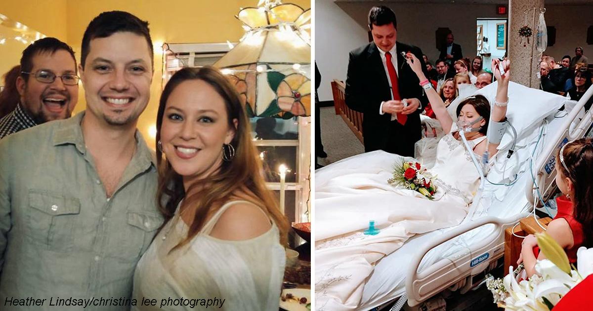 Она умирала от рака - поэтому вышла замуж прямо в больнице! А через 18 часов...
