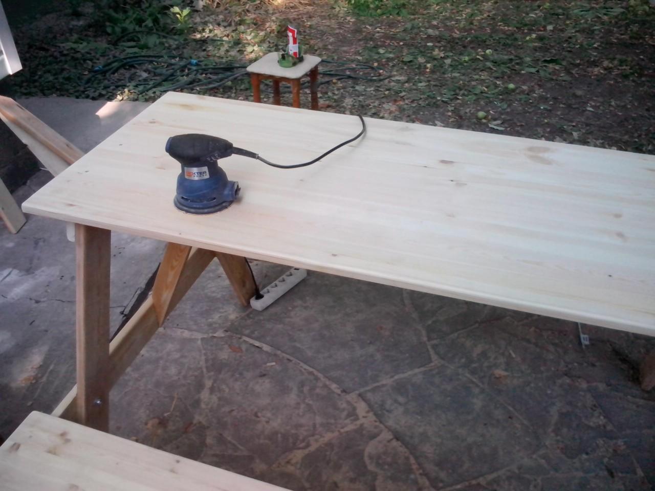 Стол в сад сад, самоделка, стол