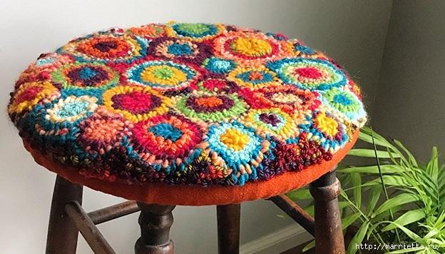Сидушка для стула, в технике ковровая вышивка (5) (624x356, 216Kb)
