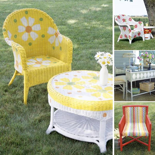 Декор своими руками: как раскрасить плетеную мебель для дома и террасы