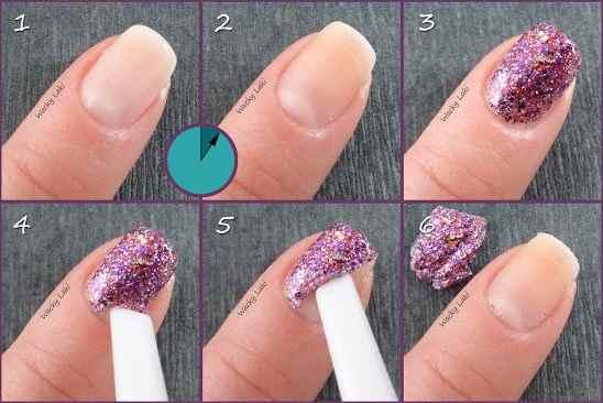 Как сделать блёстки для ногтей в домашних условиях