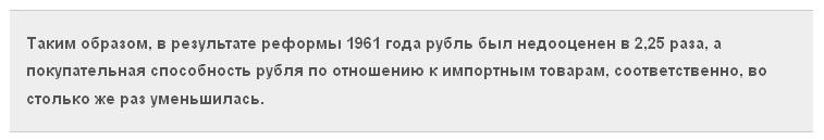 Денежная реформа 1961 года: хрущёвский удар по СССР