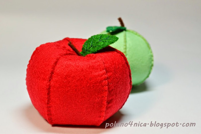 Сшить яблоки из ткани 66