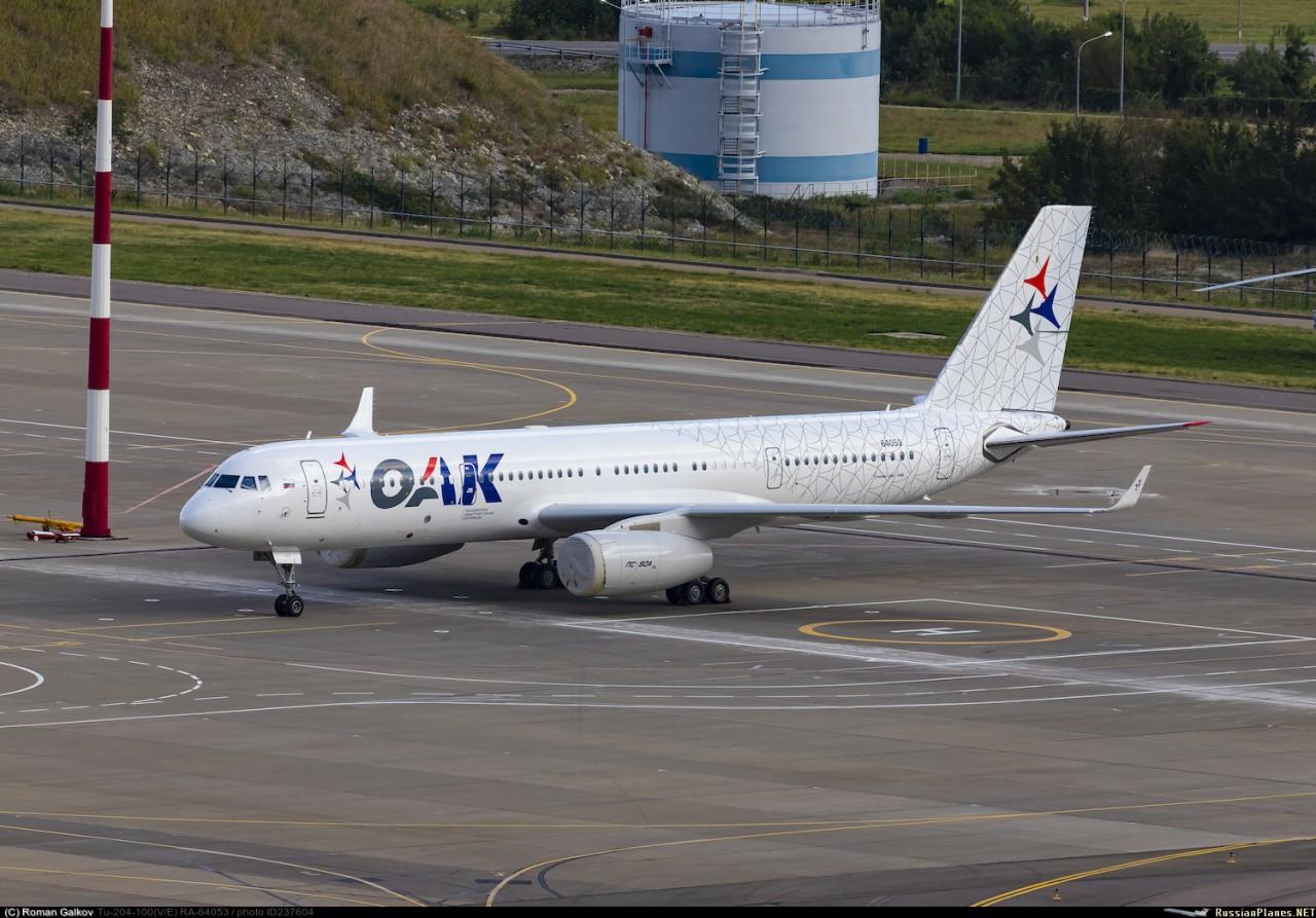 Самолет Ту-204-300-100 стал представительским бортом ОАК