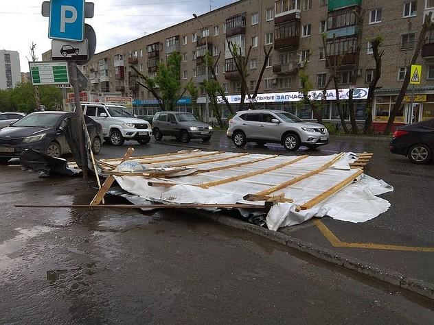 В Перми начали устранять последствия урагана