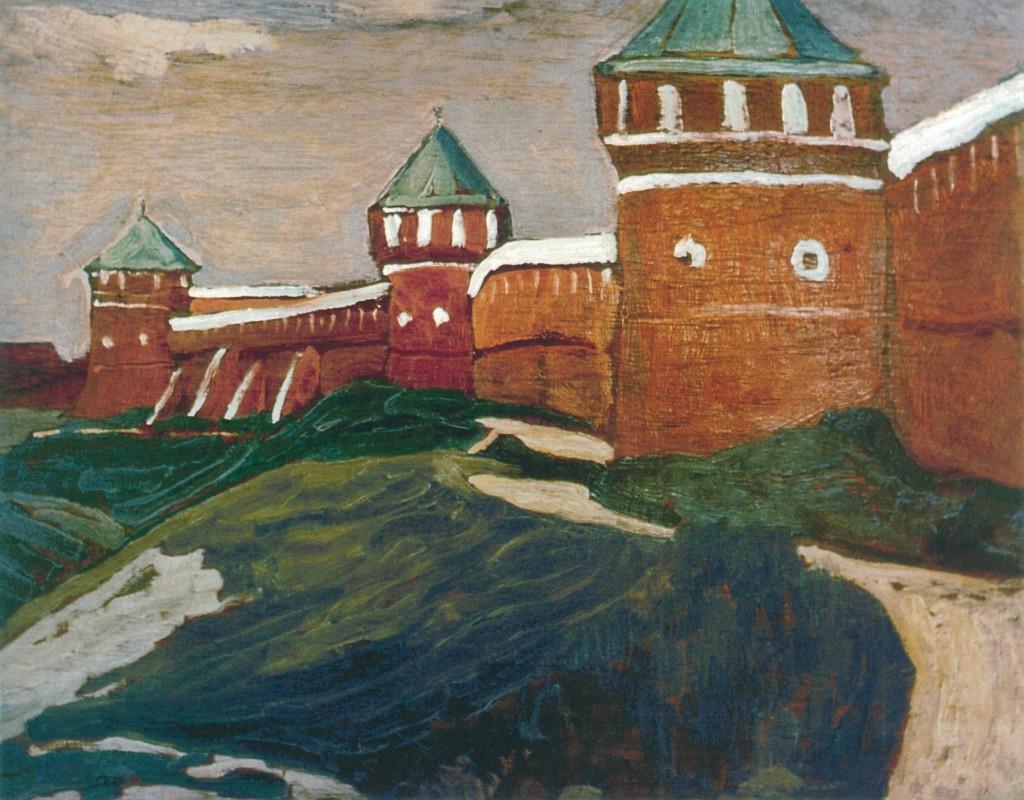 Суздаль.Стены Спасо-Ефимиева монастыря.1903.