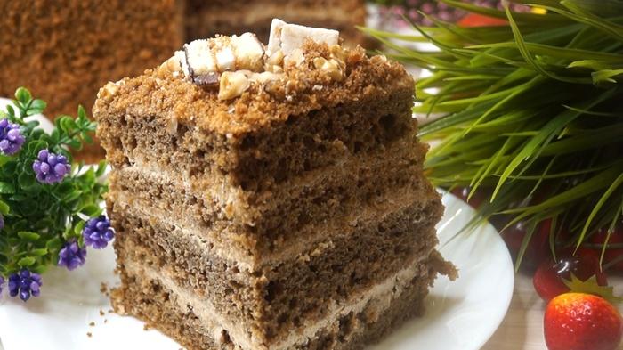Быстрый кофейный торт на кефире