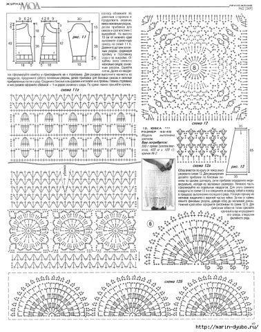 Осинка юбки вязание крючком схемы 18