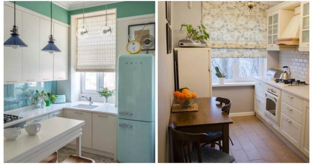 Раздвигаем маленькую кухню силой цвета и света