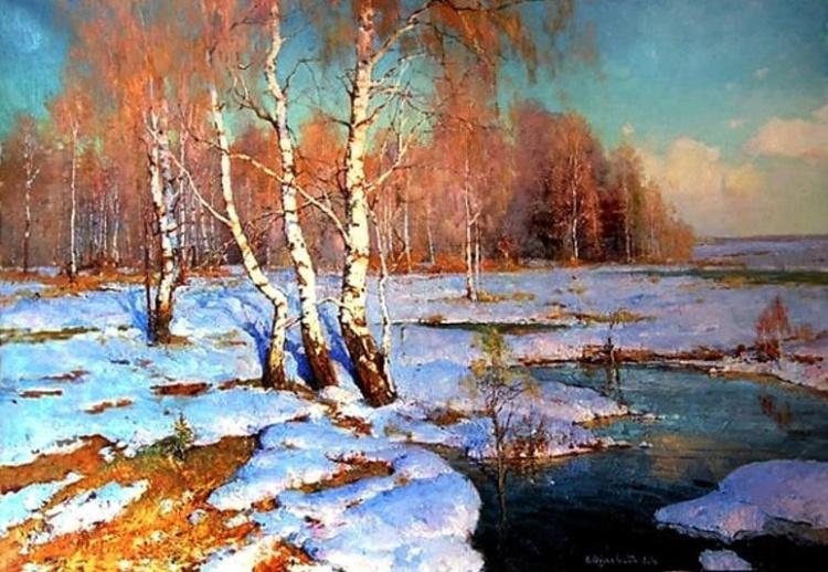 На полутонах - очарование  русского Севера в замечательных пейзажах Валентина Обуховского